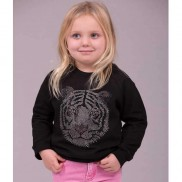 PINK NOSE TIGER KIDS SWEATER