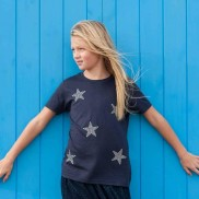 MULTI STARS KIDS CREW NECK T-SHIRT