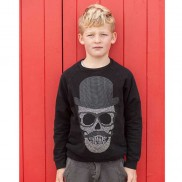 CAKO KIDS SKULL TOP HAT SWEATER