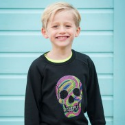 FLUO SKULL TOP HAT CAKO KIDS SWEATER