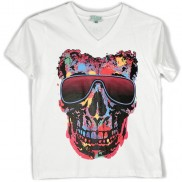 SKULL COLOUR CHANGE CAKO KIDS V NECK T-SHIRT