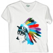 WOLF COLOUR CHANGE CAKO KIDS V NECK T-SHIRT