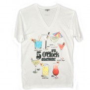 COCKTAIL HOUR CAKO MENS COLOUR CHANGE V NECK T-SHIRT