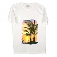 SUNSET ISLAND CAKO MENS COLOUR CHANGE CREW NECK T-SHIRT