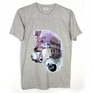 ROMA VESPA CAKO MENS COLOUR CHANGE CREW NECK T-SHIRT