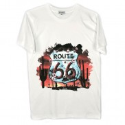 ROUTE 66 SHEILD CAKO MENS COLOUR CHANGE CREW NECK T-SHIRT