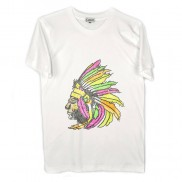 INDIAN HEADDRESS CAKO MENS BEJEWELLED CREW NECK T-SHIRT