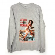 ATTACK OF 50FT WOMAN CAKO MENS LONG SLEEVE T-SHIRT