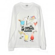 COCKTAIL HOUR CAKO MENS LONG SLEEVE T-SHIRT