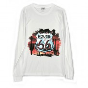 ROUTE 66 SHEILD CAKO MENS LONG SLEEVE T-SHIRT