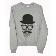 SKULL TOP HAT CAKO MENS BEJEWELLED SWEATER