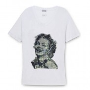 MARILYN CAKO BEJEWELLED SCOOP NECK T-SHIRT