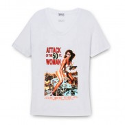 ATTACK 50FT WOMAN COLOUR CHANGE SCOOP NECK T-SHIRT