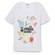COCKTAIL HOUR COLOUR CHANGE SCOOP NECK T-SHIRT
