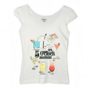 COCKTAILS CAKO LADIES COLOUR CHANGE TRIM T-SHIRT