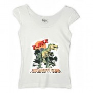 DINOSAUR CAKO LADIES COLOUR CHANGE TRIM T-SHIRT