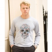 BALLOON SKULL CAKO MENS LONG SLEEVE T-SHIRT