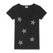 MULTI STARS CAKO BEJEWELLED V NECK T-SHIRT