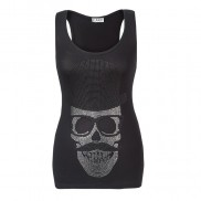 SKULL TOP HAT CAKO BEJEWELLED VEST