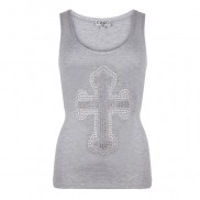 CROSS ON FRONT CAKO BEJEWELLED VEST