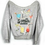 COCKTAIL HOUR CAKO COLOUR CHANGE LADIES RAW EDGE SWEATER