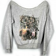 STAG CAKO COLOUR CHANGE LADIES RAW EDGE SWEATER