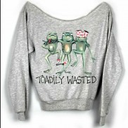 TOADILY WASTED CAKO COLOUR CHANGE LADIES RAW EDGE SWEATER