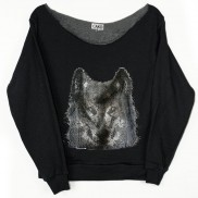 WOLF CAKO LADIES BEJEWELLED RAW EDGE SWEATER