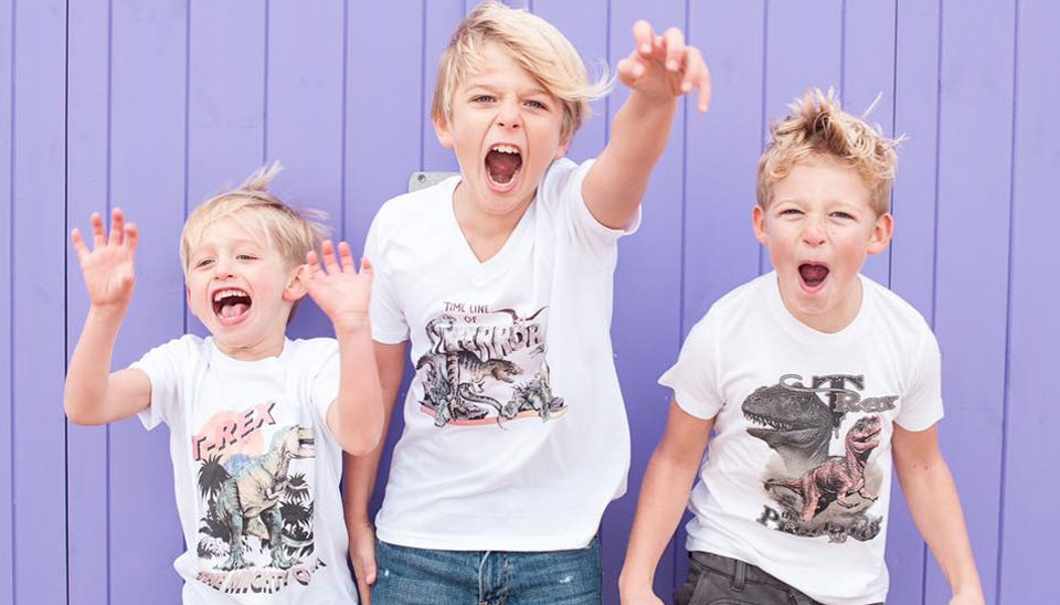 Cako Kids Colour Change V-neck T-shirts Look Book