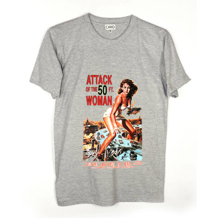 Cako mens attack of 50ft woman colour change crew neck t shirt for Attack of the 50 foot woman t shirt